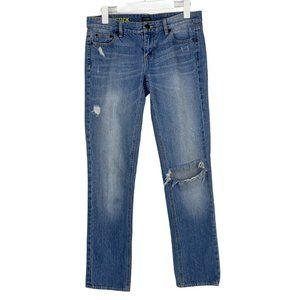 J.Crew Matchstick Light Blue Distressed Jeans 28